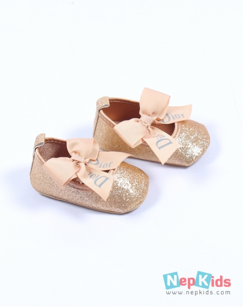 de0ca7c28 Cute Dior Glittery Brown Shoes for Baby Girl   6 to 12 months ...